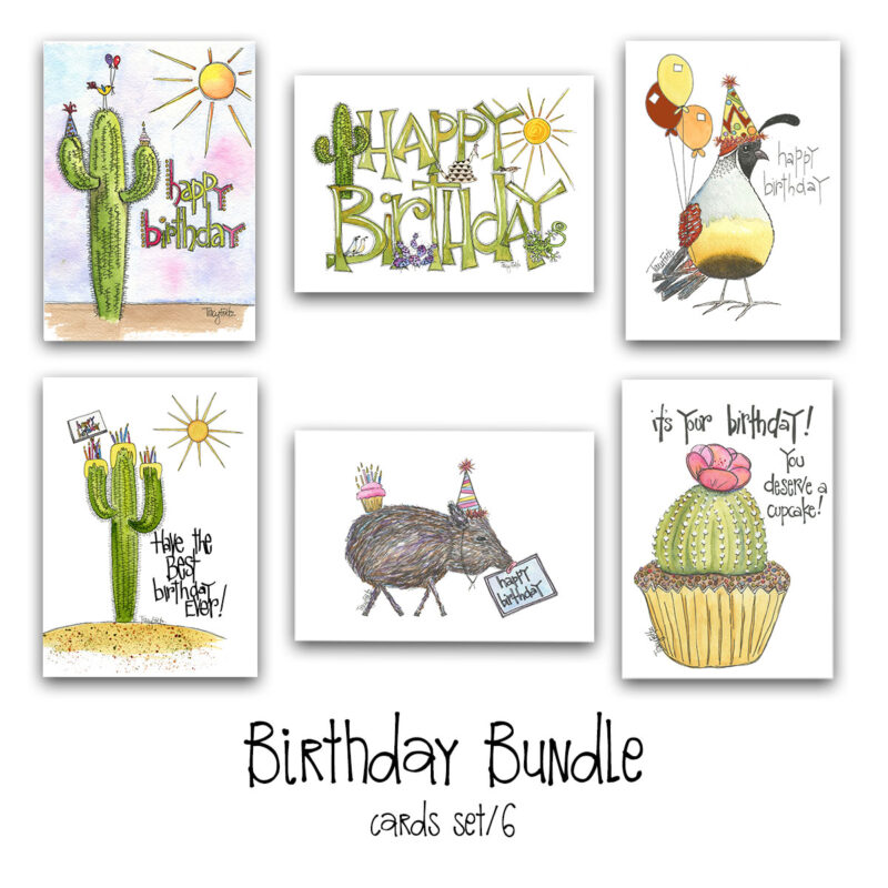 birthday bundle card set