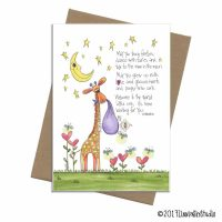 whimsical giraffe new baby
