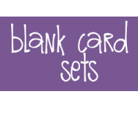 Blank Card Sets
