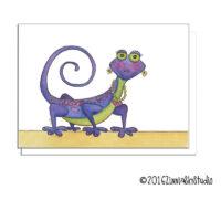 lizard purple beauty
