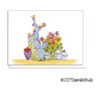 succulents butterflies greeting card