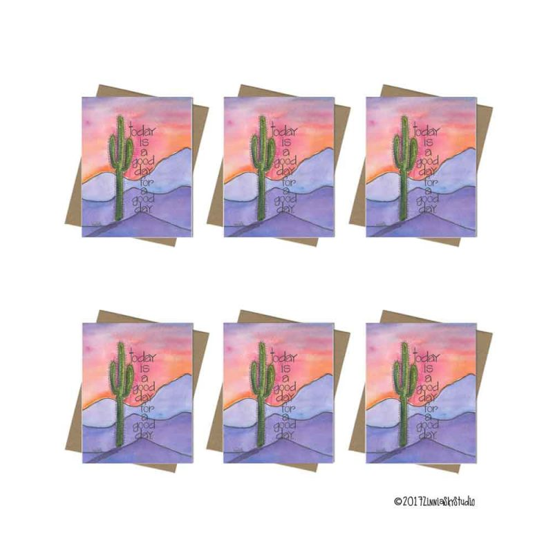 southwest good day mountains note card set
