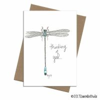 thinking of you blue dragonfly