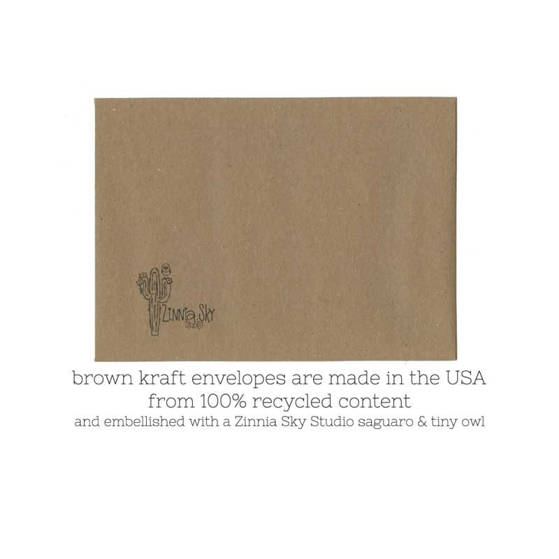 Brown kraft envelope made from 100% recycled content
