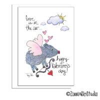 southwest javelina cupid valentine card