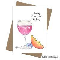 thinking wine glass