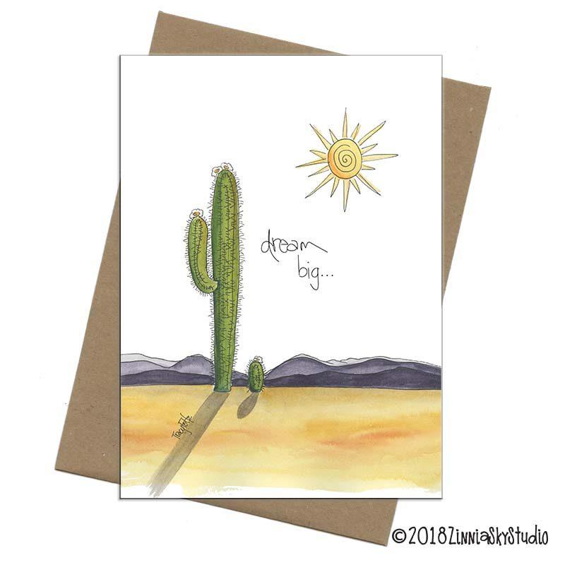 encouragement cactus dream big