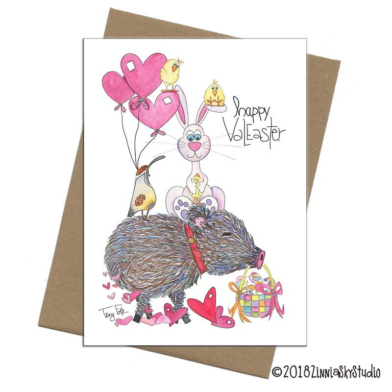 Valentine easter card