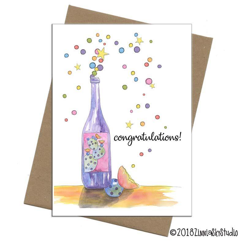 southwest wine bottle congratulations