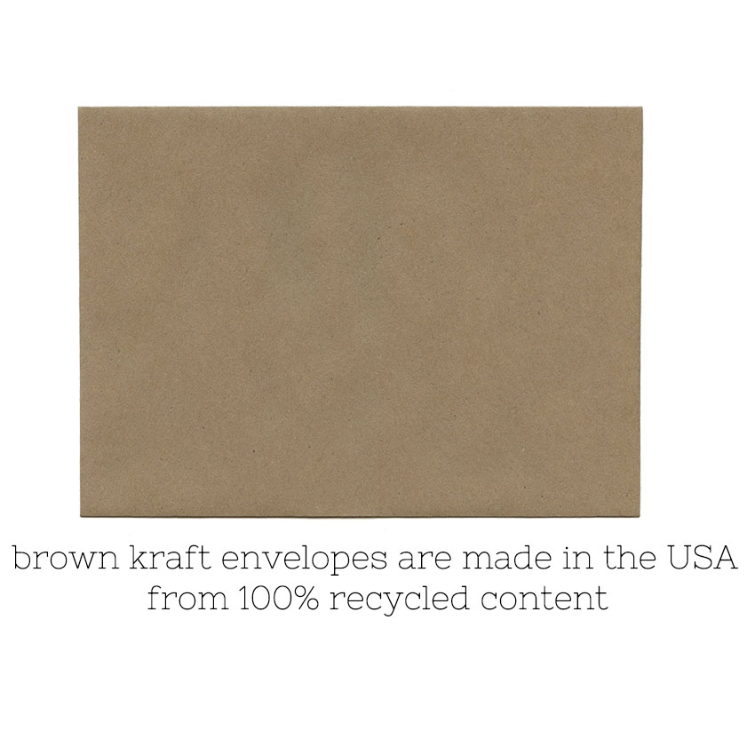 Kraft envelope no logo