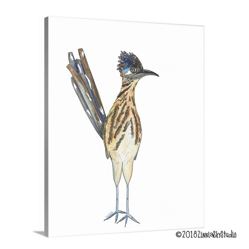 road runner canvas print