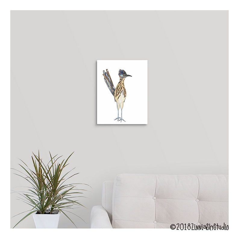 road runner canvas on wall