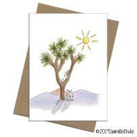 joshua tree quail card