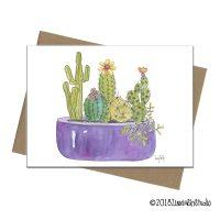 C1913 Succulents Purple Pot
