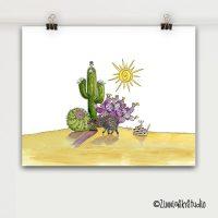 desert medley art print small 8 x 10