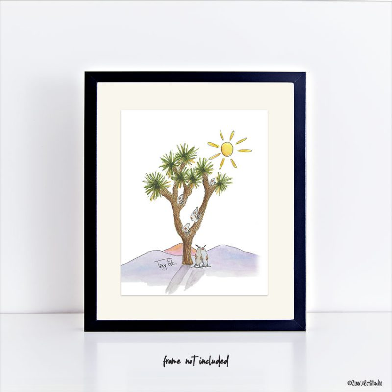 Joshua tree art print small 8 x 10