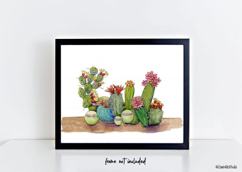 succulent medley art print