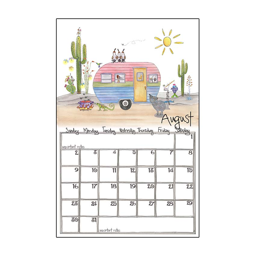 Calendrier Fun Car 2020.2020 Wall Calendar Small 7 X 11