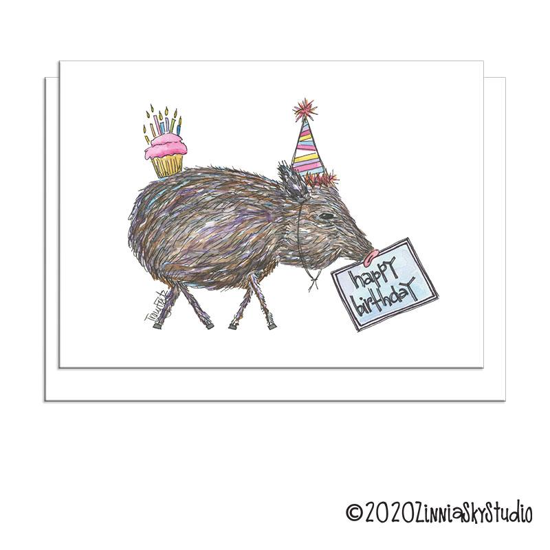 birthday javelina funny hat