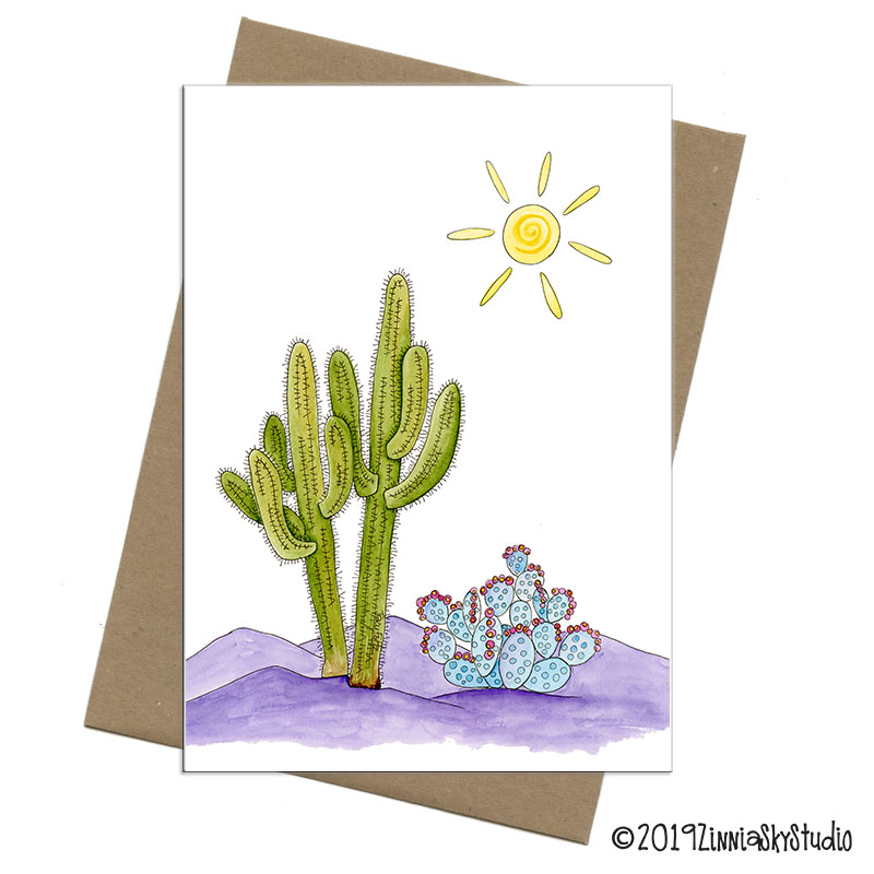 cactus duo blank card