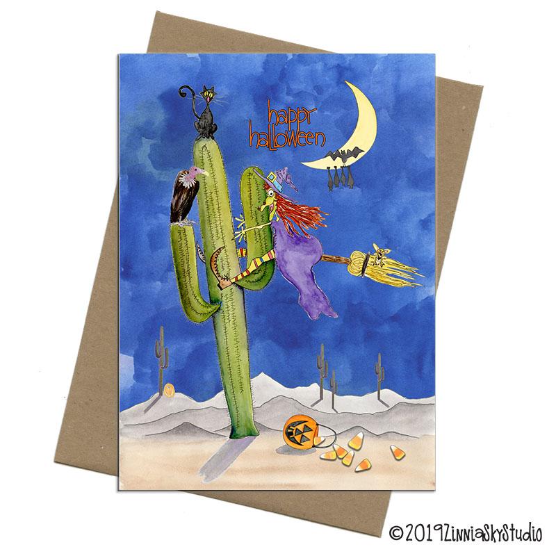 C3015 Witch Cactus Funny Halloween