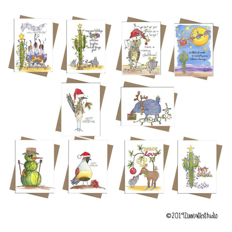Christmas Mixed Cards Set 10 Southwest