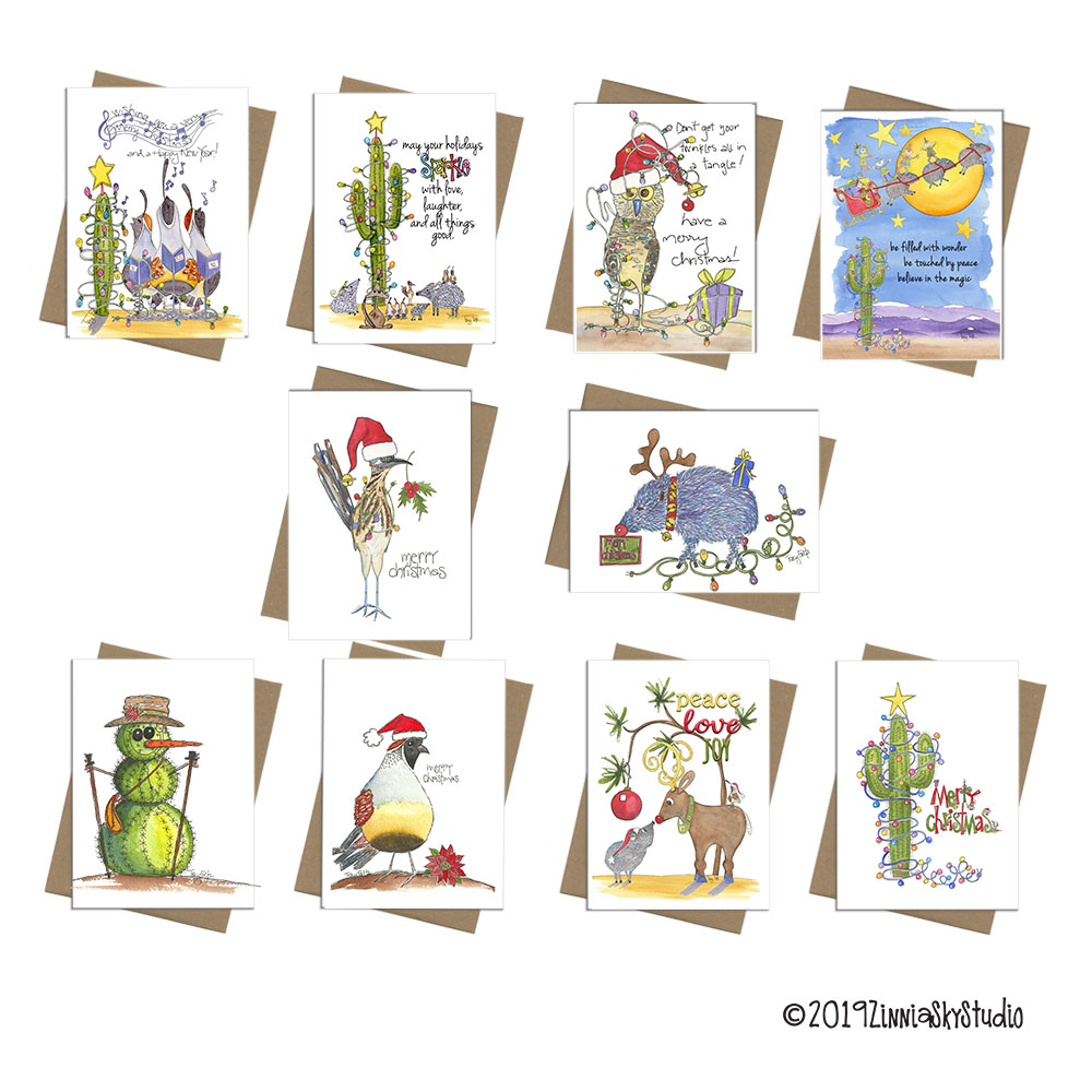 Christmas Mixed Cards Set 10 Southwest