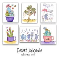 desert caboodle note card set