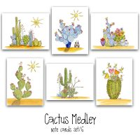 cactus medley note card set