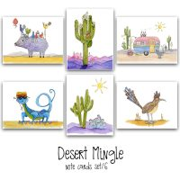desert mingle note card set