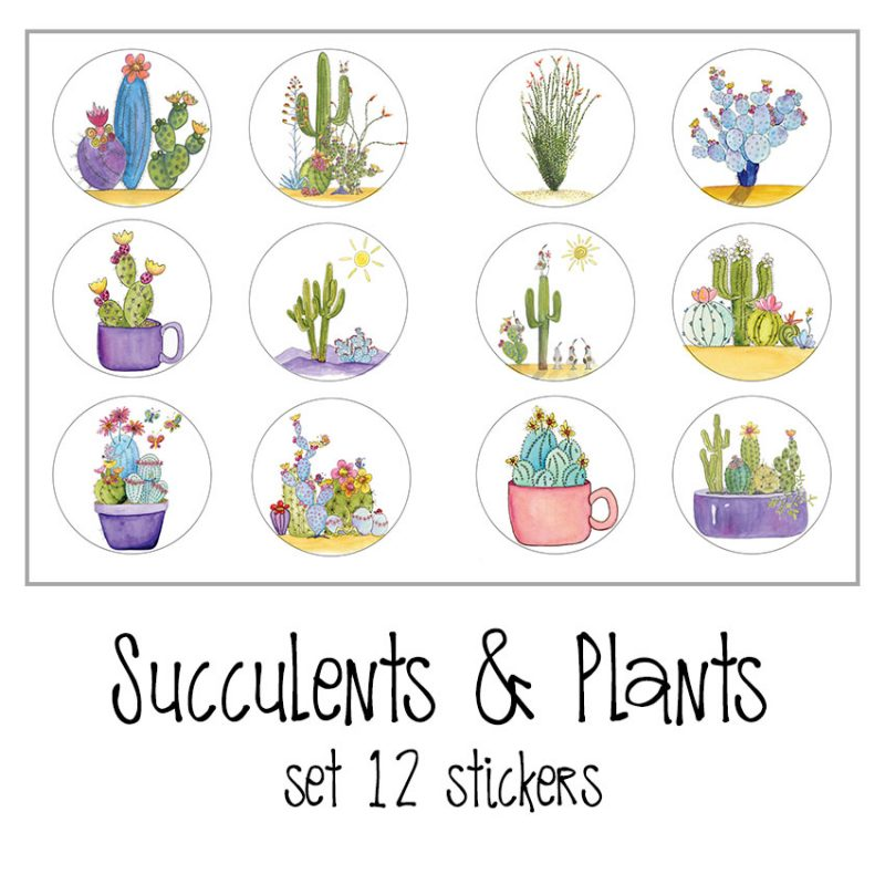 Succulents and Plants Stickers