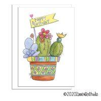birthday succulent pot