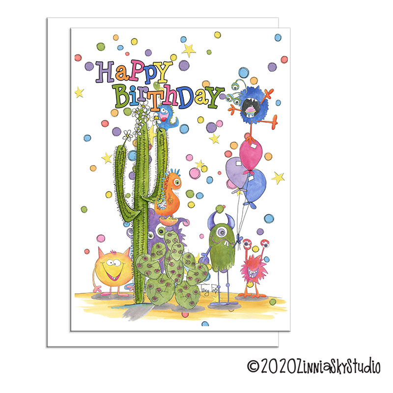 birthday monsters southwest cactus