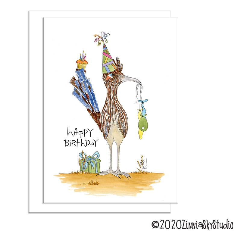 C0040 birthday road runner party front view