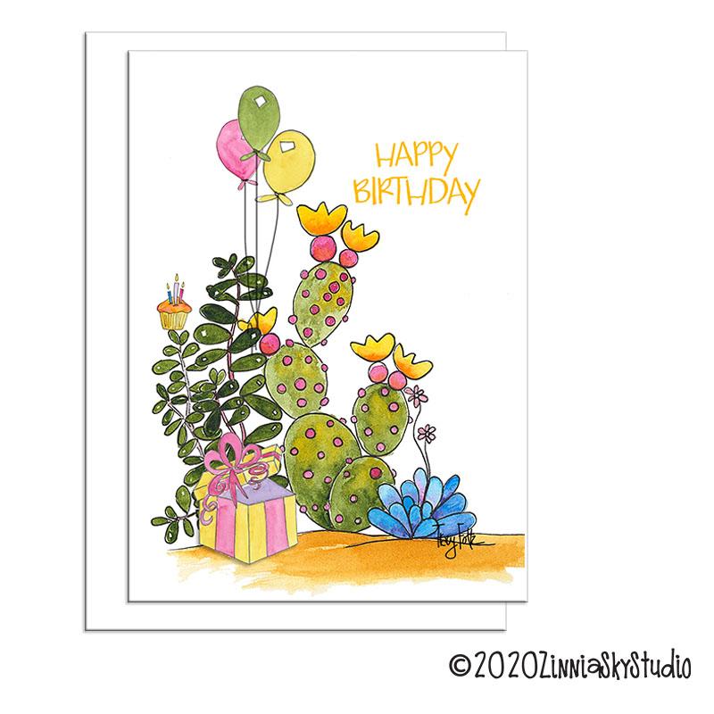 C0042 birthday cactus balloons