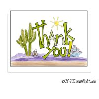 cactus succulent green thank you