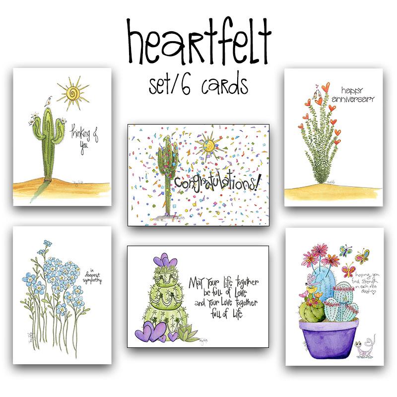 B3009 heartfelt card box set