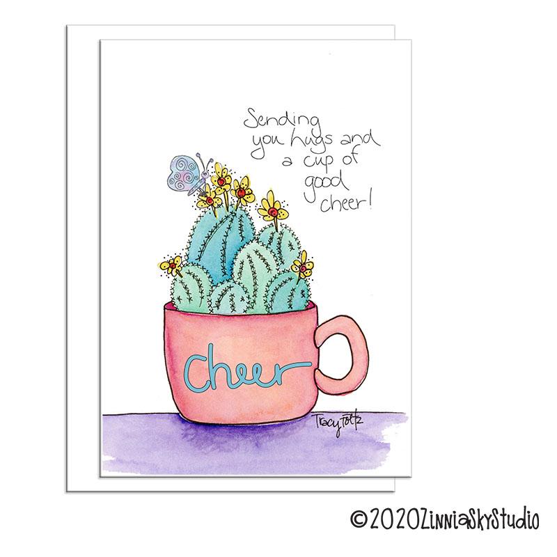 C0604 succulents good cheer friend