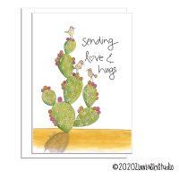 C0606 Love & Hugs white greeting cards