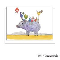 C1002 Javelina Birds white