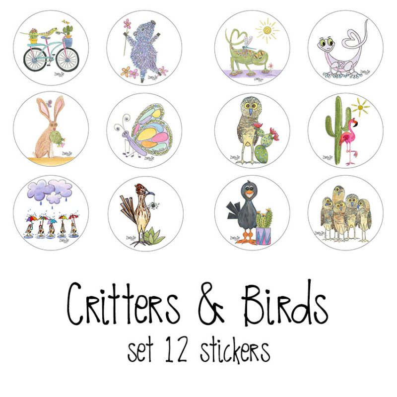 stickers critters & birds