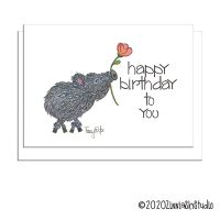 C0013 Birthday Javelina Flower white