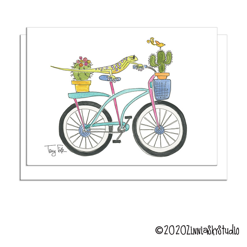 C0207 Bicycle LIzard white
