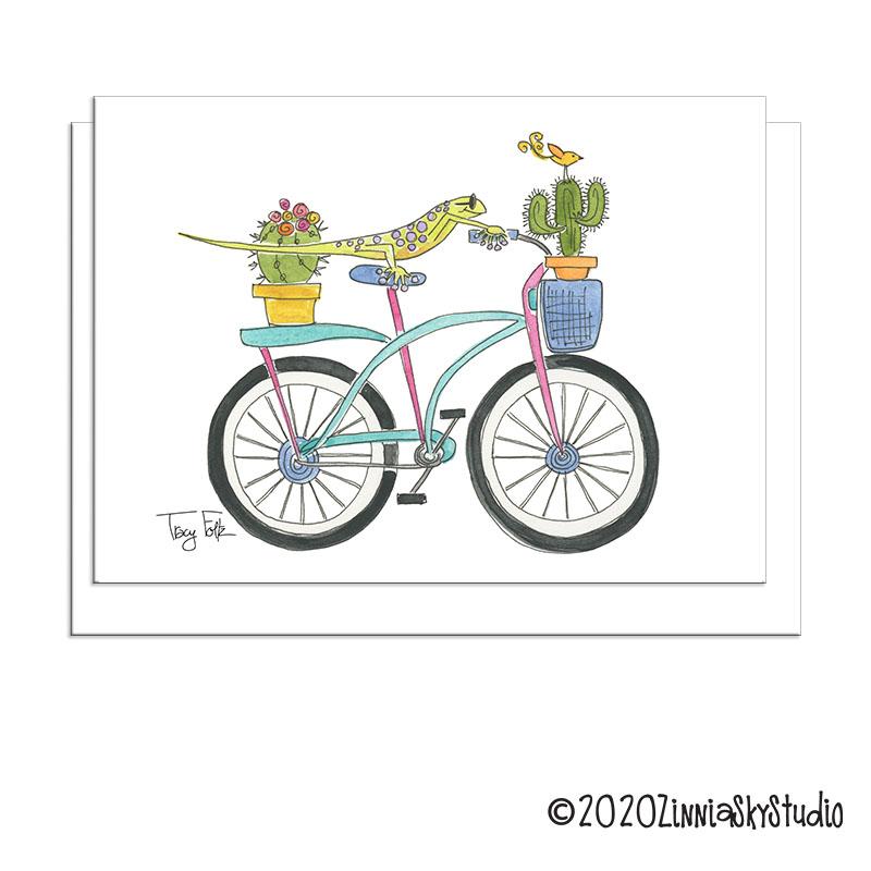 C0207 Bicycle LIzard white