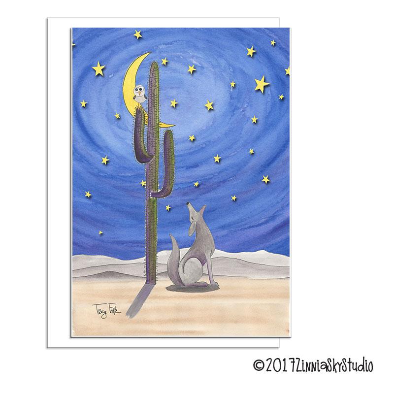 southwest desert coyote skies