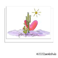 C0607 cactus heart purple mountain