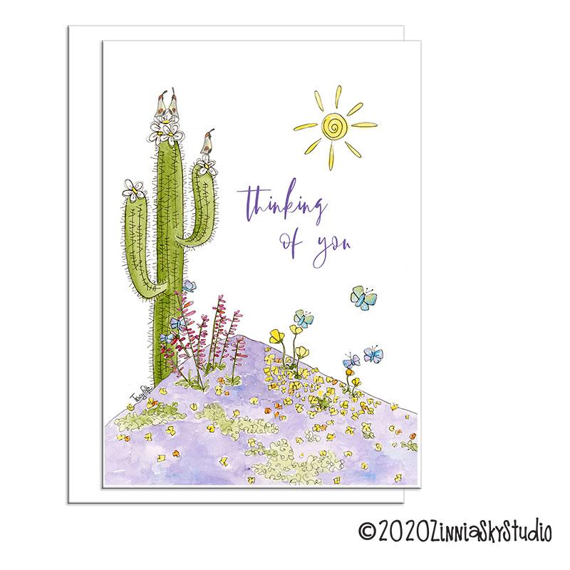 C2019 Flowers Butterflies Purple Desert Meadow Thinking