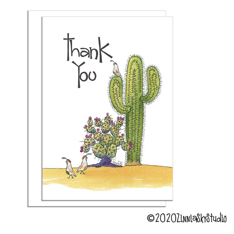 southwest cactus thank you
