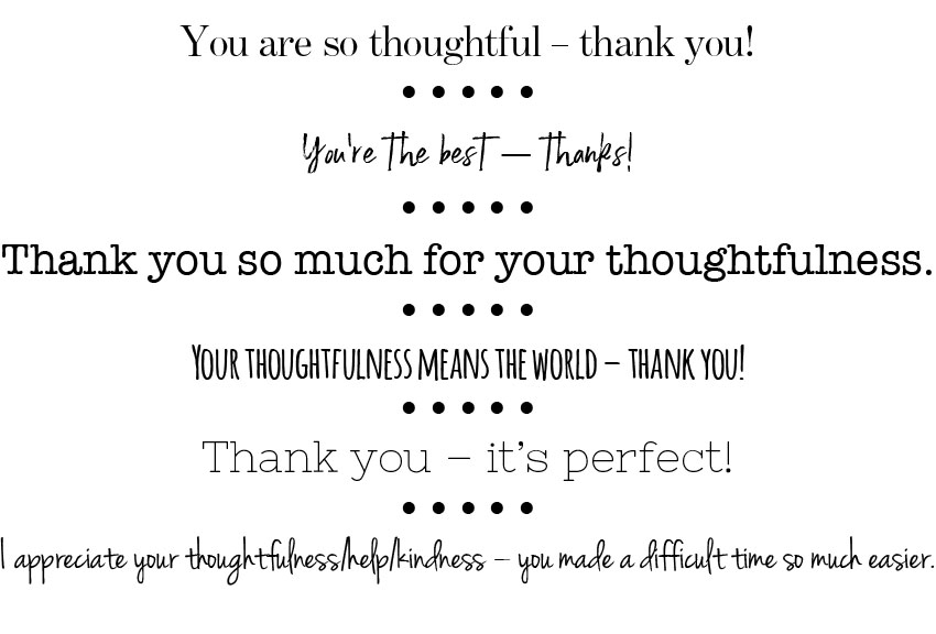 thank you words