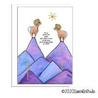 sheep purple mountains far apart miss you card